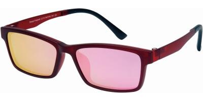 Dioptrické brýle London Club model 13, barva obruby červená mat, stranice červená mat, kód barevné varianty C2.