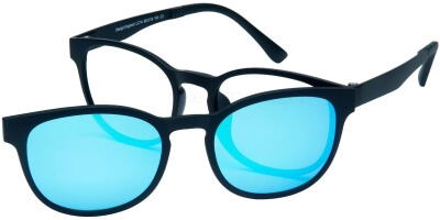 Dioptrické brýle London Club model 14, barva obruby černá mat, stranice černá mat, kód barevné varianty C1.