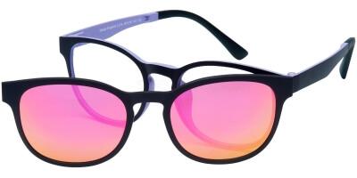 Dioptrické brýle London Club model 14, barva obruby černá fialová mat, stranice černá fialová mat, kód barevné varianty C2.