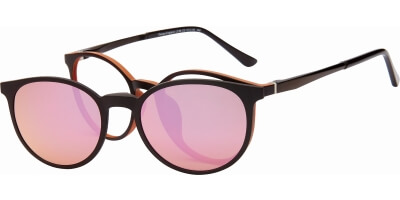 Dioptrické brýle London Club model 39, barva obruby hnědá mat, stranice hnědá mat, kód barevné varianty C2.