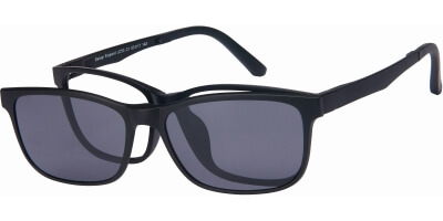 Dioptrické brýle London Club model 53, barva obruby černá mat, stranice černá mat, kód barevné varianty C1.