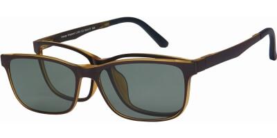 Dioptrické brýle London Club model 53, barva obruby hnědá žlutá mat, stranice hnědá žlutá mat, kód barevné varianty C2.