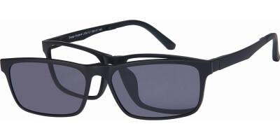 Dioptrické brýle London Club model 54, barva obruby černá mat, stranice černá mat, kód barevné varianty C1.