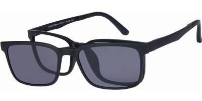 Dioptrické brýle London Club model 58, barva obruby černá mat, stranice černá mat, kód barevné varianty C1.