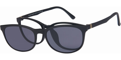 Dioptrické brýle London Club model 60, barva obruby černá mat, stranice černá mat, kód barevné varianty C1.