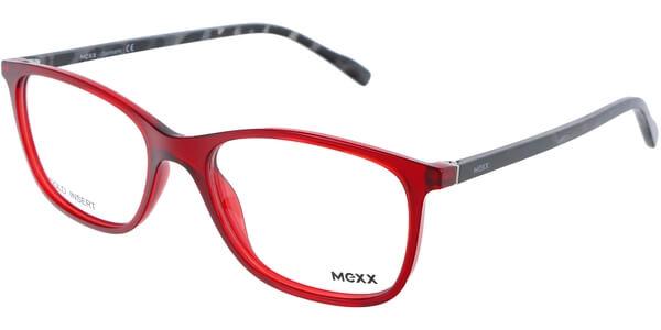 Dioptrické brýle MEXX model 2404, barva obruby červená lesk, stranice černá lesk, kód barevné varianty 300.