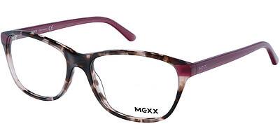 Dioptrické brýle MEXX model 2502, barva obruby hnědá lesk, stranice vínová lesk, kód barevné varianty 100.