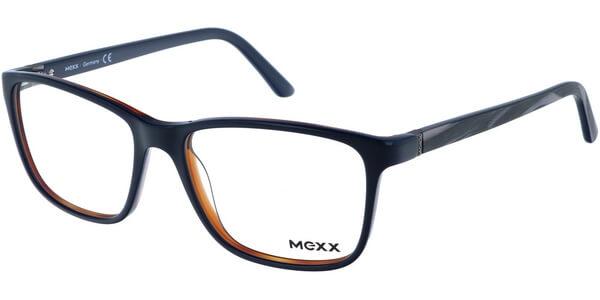 Dioptrické brýle MEXX model 2503, barva obruby modrá oranžová lesk, stranice šedá lesk, kód barevné varianty 100.
