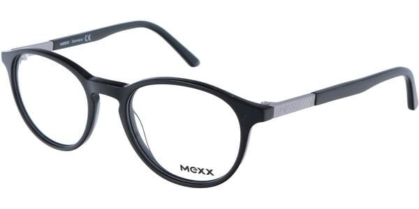 Dioptrické brýle MEXX model 2507, barva obruby černá lesk, stranice černá stříbrná lesk, kód barevné varianty 100.