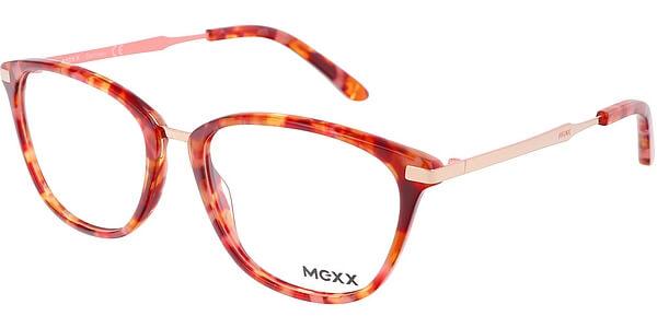 Dioptrické brýle MEXX model 2509, barva obruby růžová hnědá lesk, stranice zlatá lesk, kód barevné varianty 200.