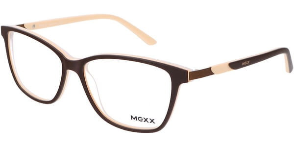 Dioptrické brýle MEXX model 2515, barva obruby hnědá béžová mat, stranice hnědá béžová mat, kód barevné varianty 400.