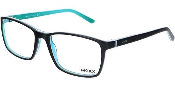 Dioptrické brýle MEXX model 2518, barva obruby černá tyrkysová lesk, stranice černá tyrkysová lesk, kód barevné varianty 200.
