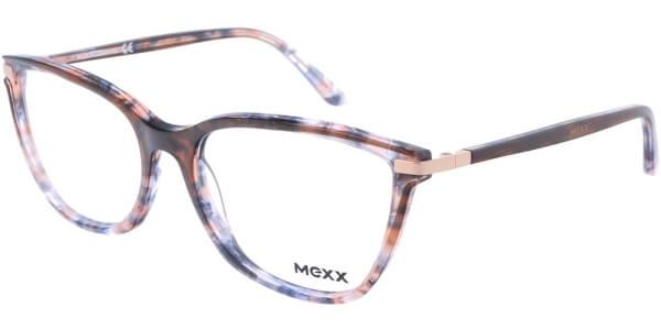 Dioptrické brýle MEXX model 2520, barva obruby hnědá šedá lesk, stranice hnědá šedá lesk, kód barevné varianty 100.