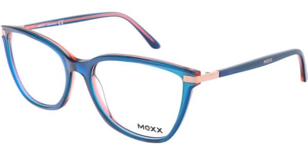 Dioptrické brýle MEXX model 2520, barva obruby modrá oranžová lesk, stranice modrá oranžová lesk, kód barevné varianty 400.