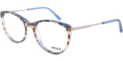 Dioptrické brýle MEXX model 2523, barva obruby modrá hnědá lesk, stranice šedá lesk, kód barevné varianty 100.