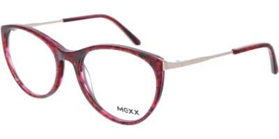 Dioptrické brýle MEXX model 2523, barva obruby červená černá lesk, stranice stříbrná lesk, kód barevné varianty 400.