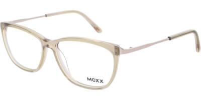 Dioptrické brýle MEXX model 2524, barva obruby žlutá čirá lesk, stranice stříbrná lesk, kód barevné varianty 200.