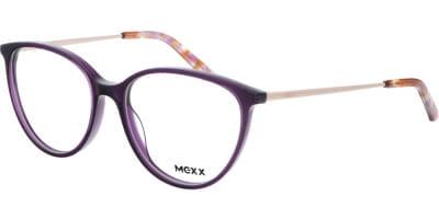Dioptrické brýle MEXX model 2533, barva obruby fialová čirá lesk, stranice zlatá lesk, kód barevné varianty 300.