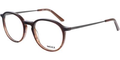 Dioptrické brýle MEXX model 2536, barva obruby hnědá lesk, stranice šedá mat, kód barevné varianty 300.