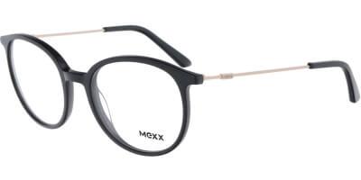Dioptrické brýle MEXX model 2538, barva obruby černá lesk, stranice zlatá lesk, kód barevné varianty 100.