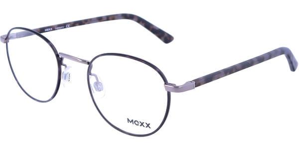 Dioptrické brýle MEXX model 2716, barva obruby černá lesk, stranice šedá hnědá mat, kód barevné varianty 400.