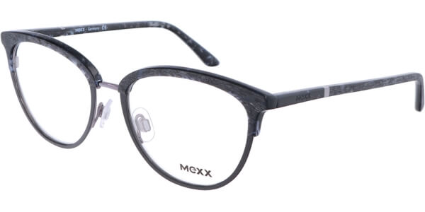 Dioptrické brýle MEXX model 2721, barva obruby černá šedá mat, stranice černá mat, kód barevné varianty 100.