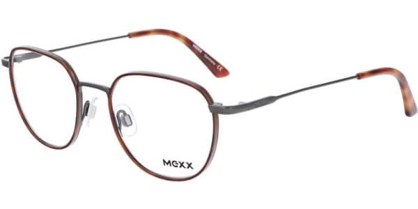 Dioptrické brýle MEXX model 2738, barva obruby hnědá šedá lesk, stranice šedá lesk, kód barevné varianty 100.