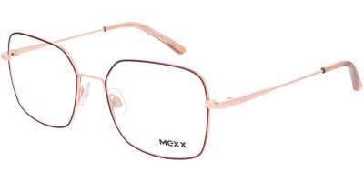 Dioptrické brýle MEXX model 2754, barva obruby červená zlatá lesk, stranice zlatá lesk, kód barevné varianty 200.