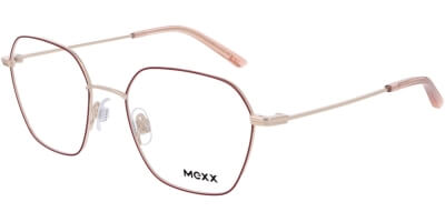 Dioptrické brýle MEXX model 2755, barva obruby červená zlatá lesk, stranice zlatá lesk, kód barevné varianty 100.
