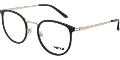 Dioptrické brýle MEXX model 2761, barva obruby černá zlatá lesk, stranice zlatá lesk, kód barevné varianty 100.