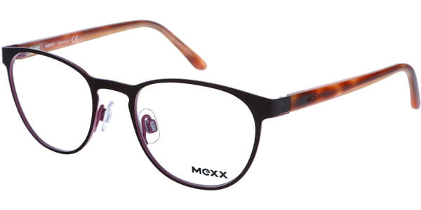 Dioptrické brýle MEXX model 5168, barva obruby hnědá růžová lesk, stranice hnědá oranžová lesk, kód barevné varianty 200.