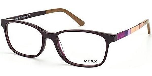 Dioptrické brýle MEXX model 5330, barva obruby vínová lesk, stranice fialová béžová mat, kód barevné varianty 300.