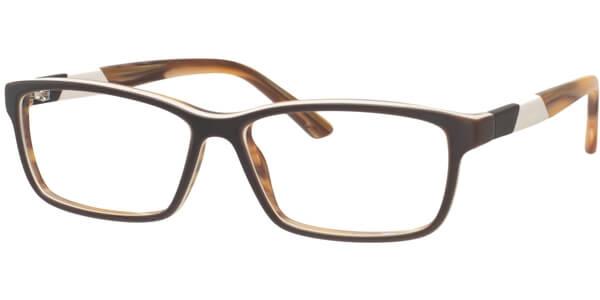 Dioptrické brýle MEXX model 5336, barva obruby hnědá mat, stranice béžová žlutá mat, kód barevné varianty 100.