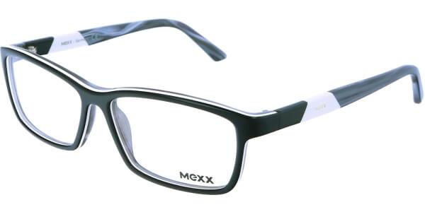 Dioptrické brýle MEXX model 5336, barva obruby černá bílá lesk, stranice šedá lesk, kód barevné varianty 500.