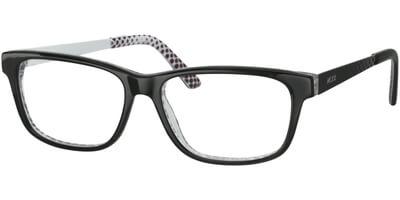 Dioptrické brýle MEXX model 5339, barva obruby černá lesk, stranice černá bílá mat, kód barevné varianty 300.