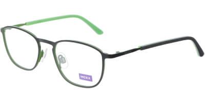 Dioptrické brýle MEXX model 5934, barva obruby černá mat, stranice černá zelená mat, kód barevné varianty 200.