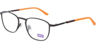 Dioptrické brýle MEXX model 5934, barva obruby hnědá mat, stranice hnědá oranžová lesk, kód barevné varianty 400.