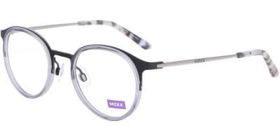 Dioptrické brýle MEXX model 5938, barva obruby černá šedá mat, stranice šedá lesk, kód barevné varianty 100.