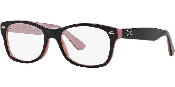 Dioptrické brýle Ray-Ban® model 1528, barva obruby hnědá lesk, stranice červená lesk, kód barevné varianty 3580.