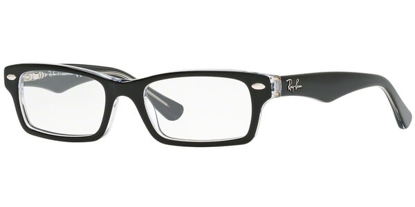 Dioptrické brýle Ray-Ban® model 1530, barva obruby černá čirá lesk, stranice černá čirá lesk, kód barevné varianty 3529.
