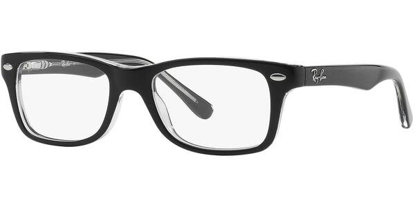 Dioptrické brýle Ray-Ban® model 1531, barva obruby černá čirá lesk, stranice černá čirá lesk, kód barevné varianty 3529.