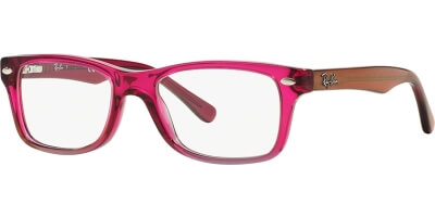 Dioptrické brýle Ray-Ban® model 1531, barva obruby růžová šedá lesk, stranice růžová lesk, kód barevné varianty 3648.