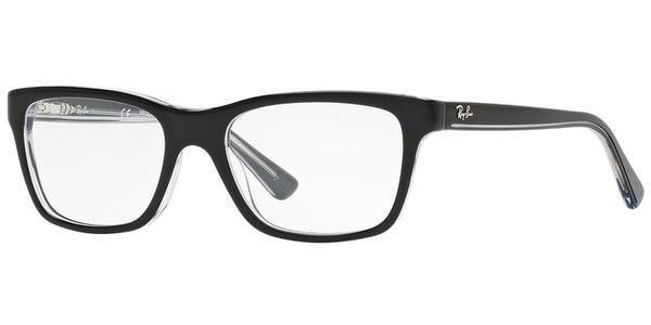 Dioptrické brýle Ray-Ban® model 1536, barva obruby černá čirá lesk, stranice černá čirá lesk, kód barevné varianty 3529.