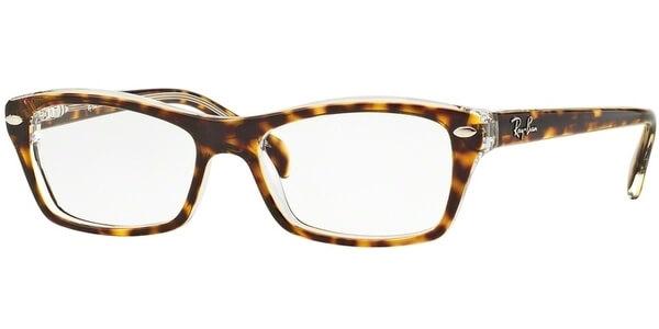 Dioptrické brýle Ray-Ban® model 1550, barva obruby hnědá čirá lesk, stranice hnědá čirá lesk, kód barevné varianty 3602.