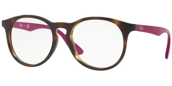 Dioptrické brýle Ray-Ban® model 1554, barva obruby hnědá lesk, stranice fialová lesk, kód barevné varianty 3729.