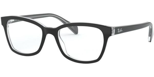 Dioptrické brýle Ray-Ban® model 1591, barva obruby černá čirá lesk, stranice černá čirá lesk, kód barevné varianty 3529.