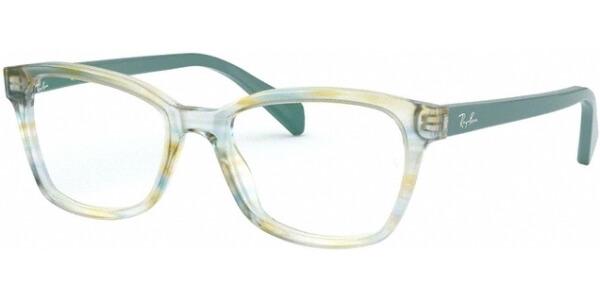 Dioptrické brýle Ray-Ban® model 1591, barva obruby zelená čirá lesk, stranice zelená lesk, kód barevné varianty 3808.