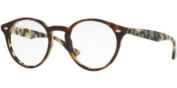 Dioptrické brýle Ray-Ban® model 2180V, barva obruby hnědá lesk, stranice hnědá lesk, kód barevné varianty 5676.