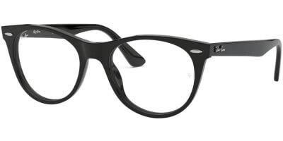 Dioptrické brýle Ray-Ban® model 2185V, barva obruby černá lesk, stranice černá lesk, kód barevné varianty 2000.