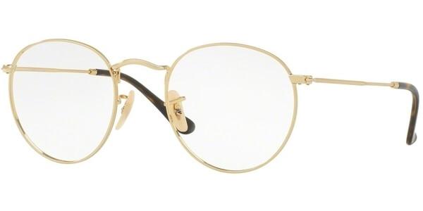 Dioptrické brýle Ray-Ban® model 3447V, barva obruby zlatá lesk, stranice zlatá lesk, kód barevné varianty 2500.